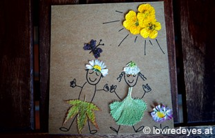 Gepresste Blütenbilder