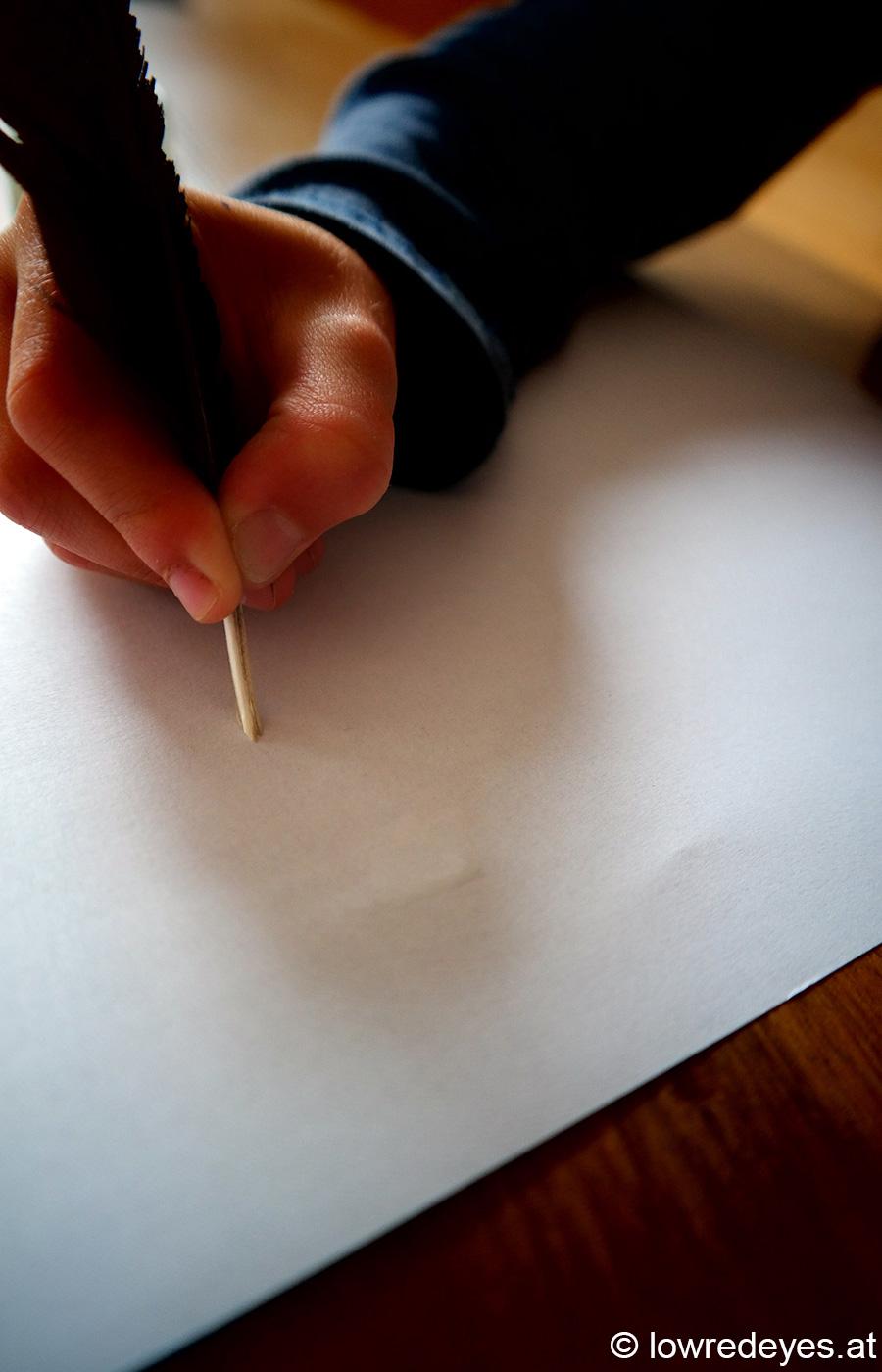 Schreibfeder für Geheimtinte