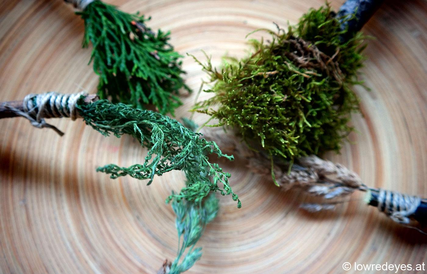 DIY: Pinsel aus Naturmaterialien selber machen
