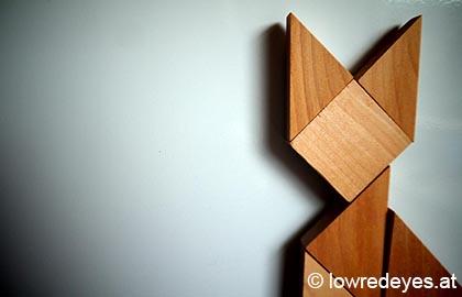 DIY und Upcycling: Magnete aus Tangram-Puzzle selber machen