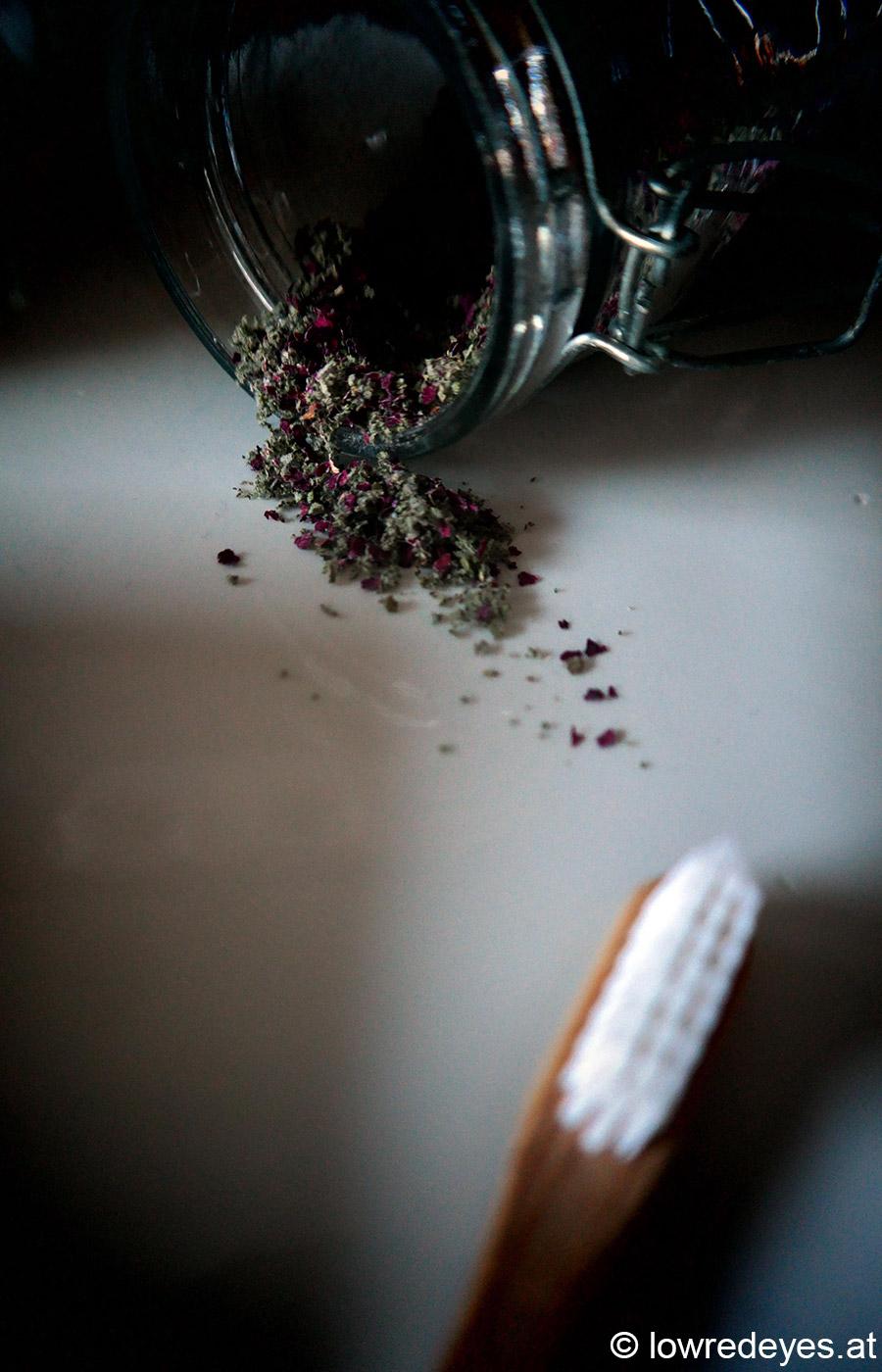 Rezept: Zahnpulver aus Salbei und Rosenblüten selber machen