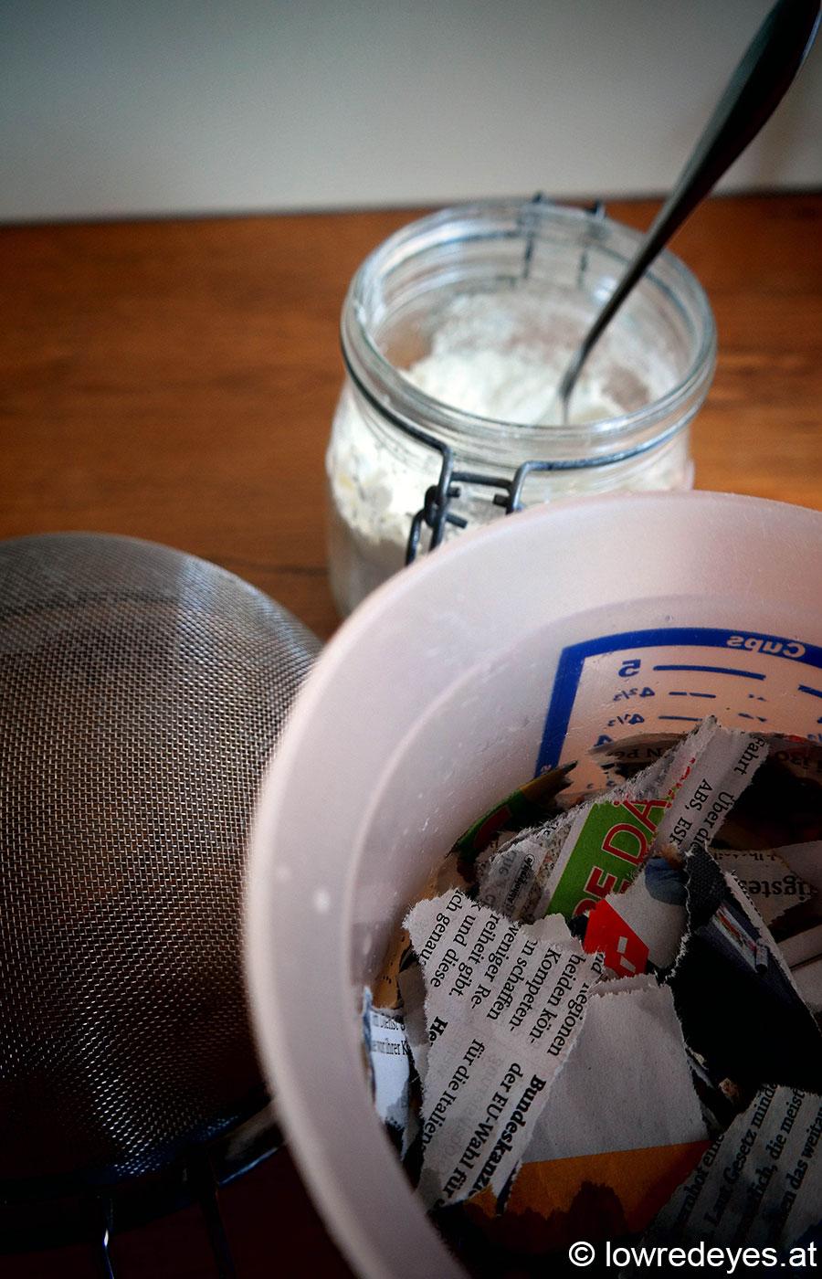 DIY und Upcacling: Papierschalen mit gepressten Blüten - gemeinsame Sache