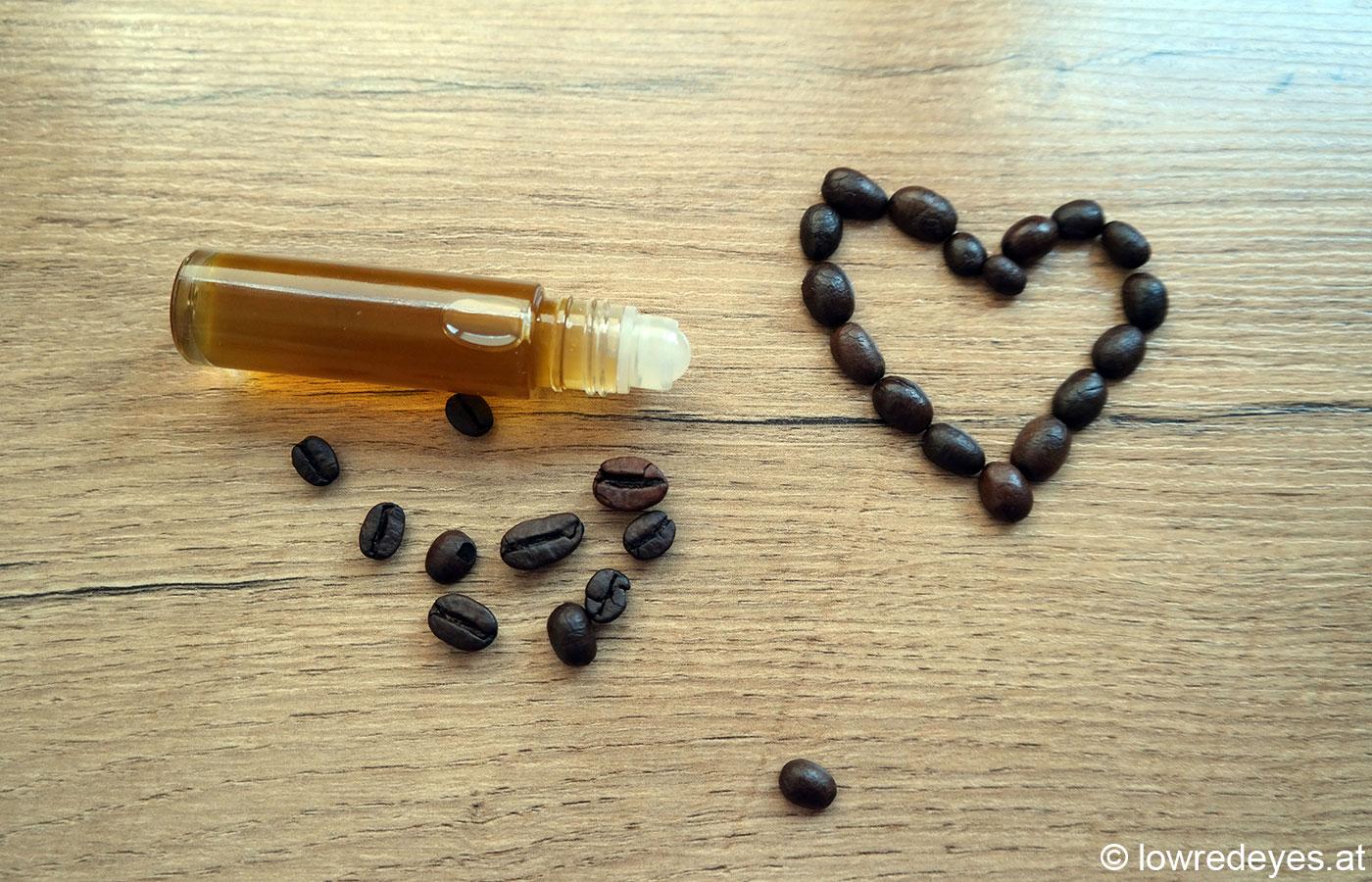"""Rezept Kaffee-Öl - Booklove """"Vom Garten auf die Haut"""""""